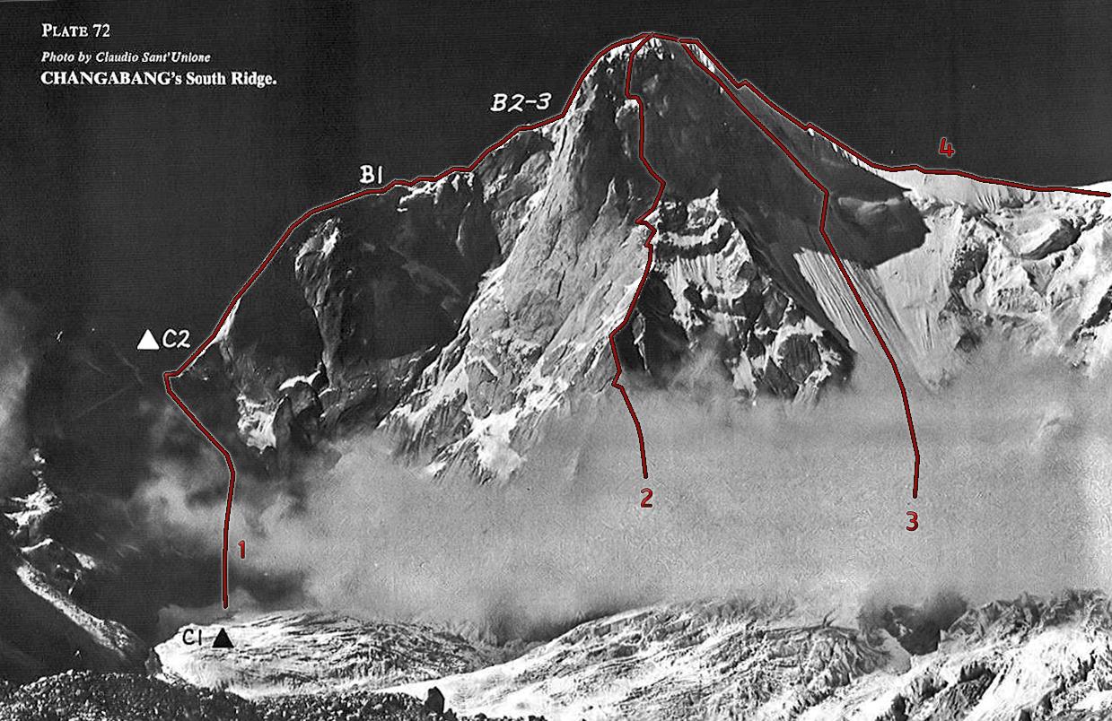 Changabang e Kalanka Southface-south-ridgeforweb