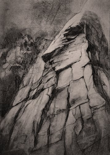 il Nasetto delle Numerate, Colli Euganei, carboncino