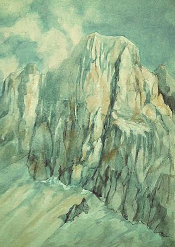 Marmolada, acquerello
