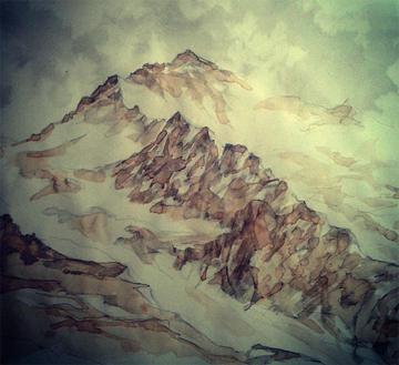 Jungfrau, acquerello