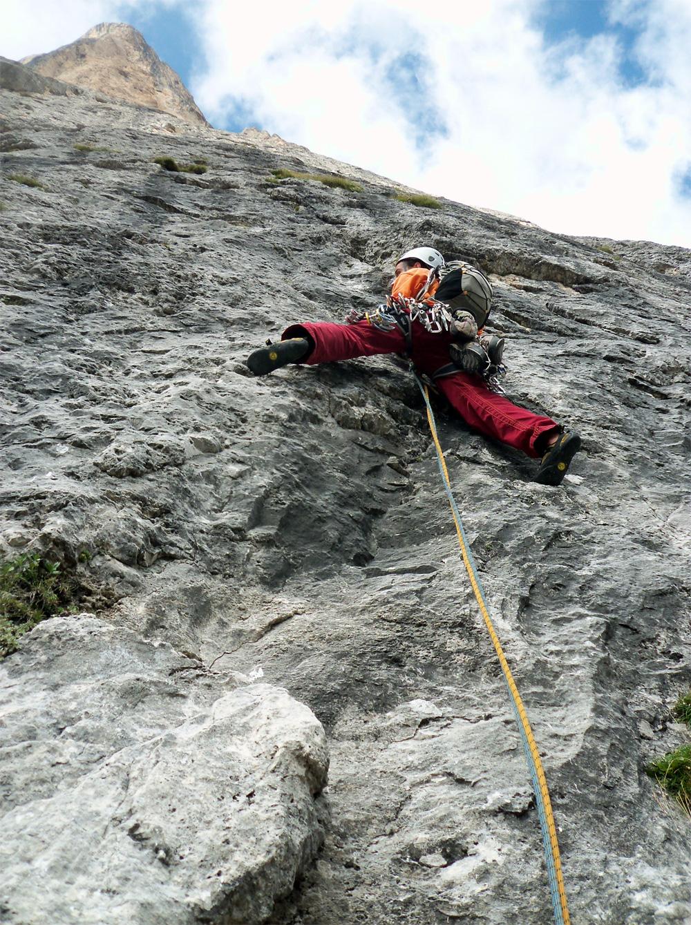 Sass Maòr, la supermatita delle Dolomiti 1sulle-grandi-placconate-della-parte-bassa-di-supermatita-foto-lorenzo-fanni