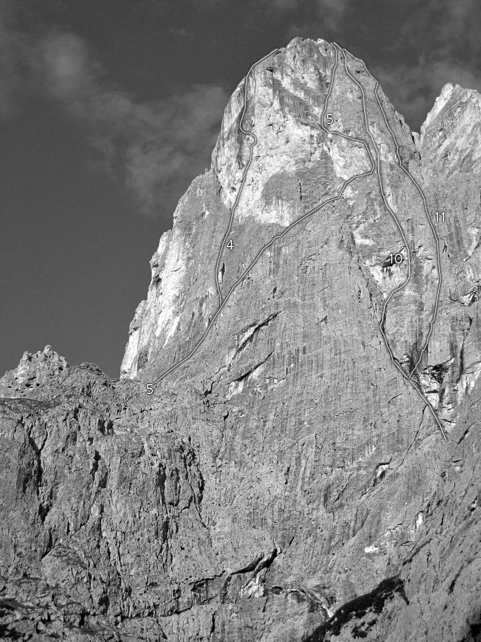 Sass Maòr, la supermatita delle Dolomiti Sass_maor_parete_est_e_nord_est_-_foto_marco_cabbia
