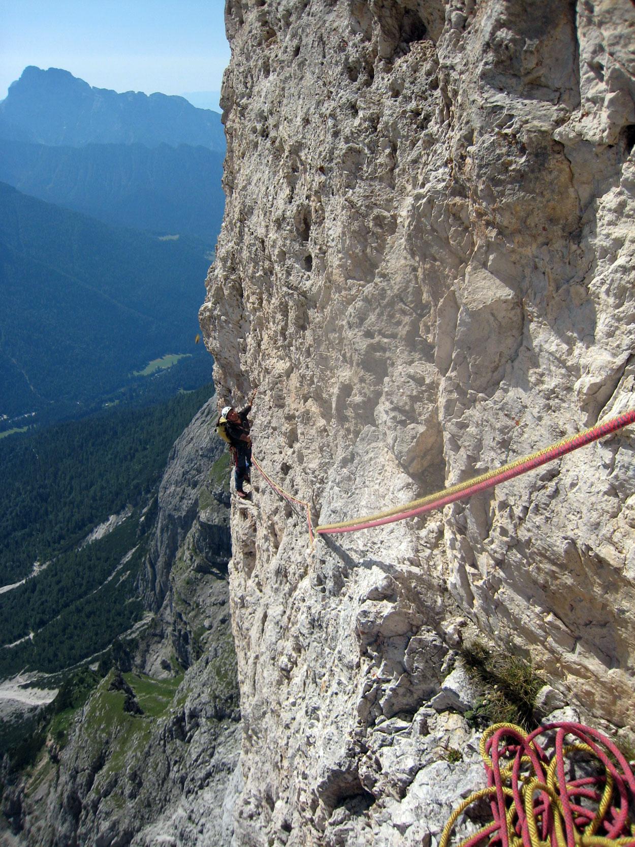 Sass Maòr, la supermatita delle Dolomiti Sass_maor_via_solleder_kummer_2_-_foto_marco_cabbia