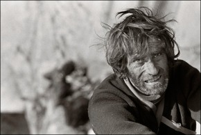 Harding on the last pitch of the Dawn Wall, El Capitan. 1970 © Glen Denny Photography
