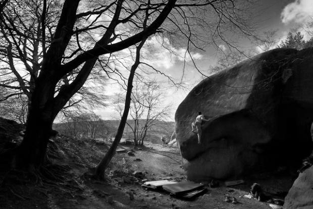 Michele Caminati - Angels' Share E8 7a (font 7c+) at Black Rocks, Peak District, UK