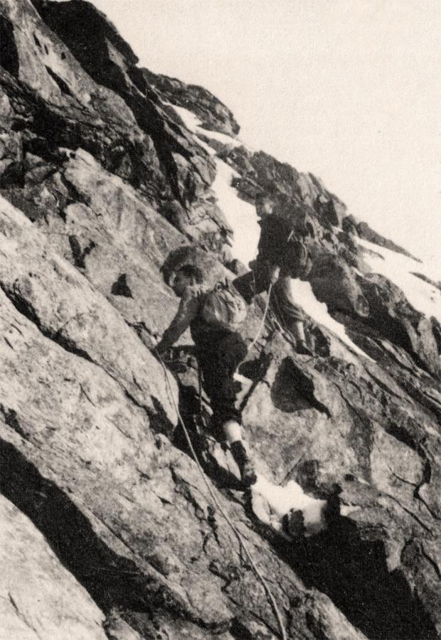 La cordata Delmastro-Levi nel 1940 all'Uia di Mondrone